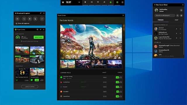 Xbox Game Bar update adds widgets to the interface
