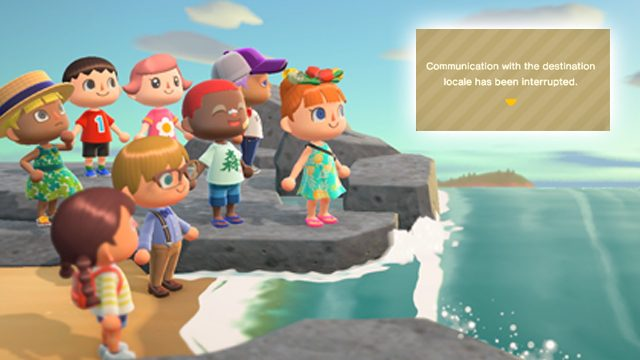 Animal Crossing: New Horizons 'Communication with the destination locale interrupted' error fix