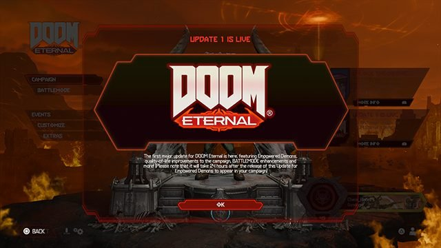 Doom Eternal 1.03 Update Patch Notes | Empowered Demons and more