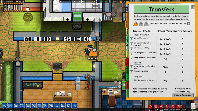 Prison Architect Island Bound expansion Cleared For Transfer DLC guard