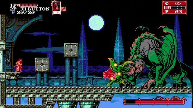Bloodstained Curse of the Moon 2 dragon