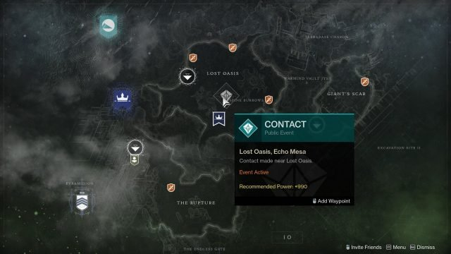 Destiny 2 Contact Public Event Io Map