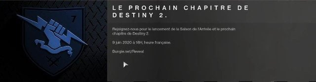 Destiny 2 Season of the Arrival French