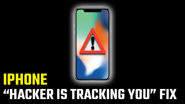 'Hacker is tracking you' pop-up iPhone