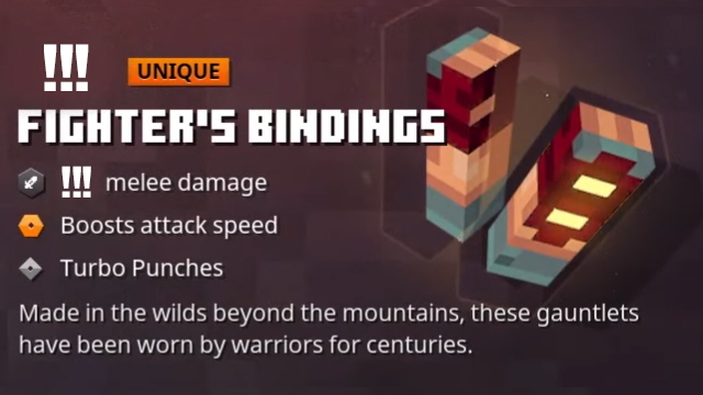 Minecraft Dungeons Fighter's Bindings