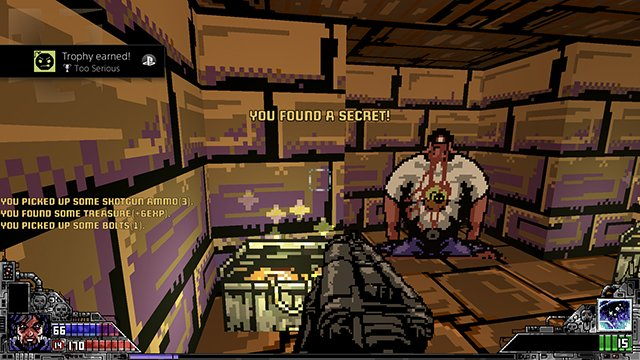 Project Warlock Serious Sam Easter egg | How to get the Too Serious trophy