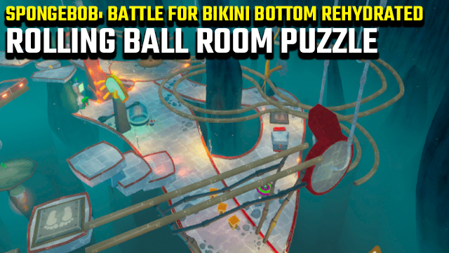 SPONGEBOB BATTLE FOR bikini bottom rehydrated rolling ball room puzzle guide