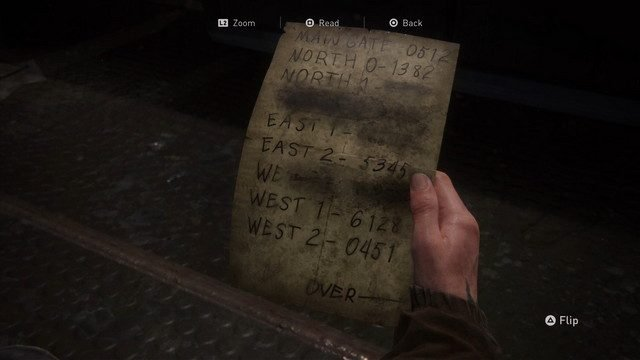 The Last of Us 2 Main Gate Codes