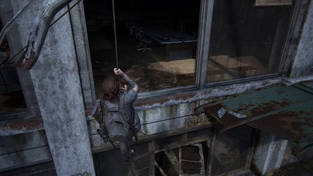 The Last of Us 2 Seattle Convention Center Locked Door Climbing