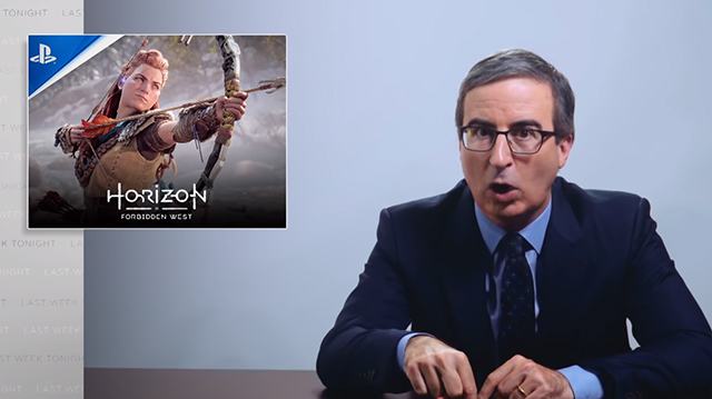 John Oliver can't wait to 'murder dinosaur robots' in Horizon Forbidden West