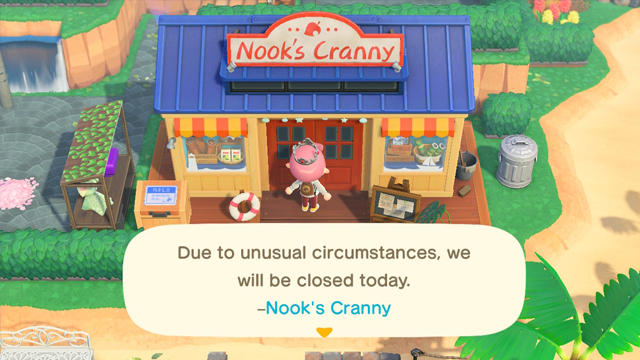 Animal Crossing New Horizons 'Due to unusual circumstances, we will be closed today' meaning
