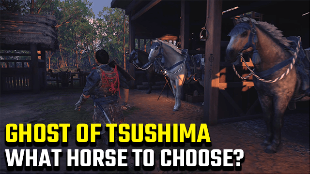 Ghost of Tsushima Choose Horse and Horse Name