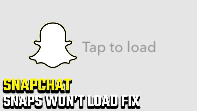 Snapchat 'Tap to load' screen