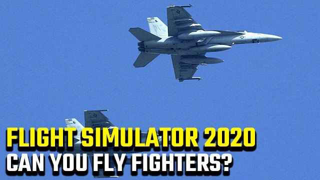 Flight Simulator 2020 Can you fly fighters and bombers