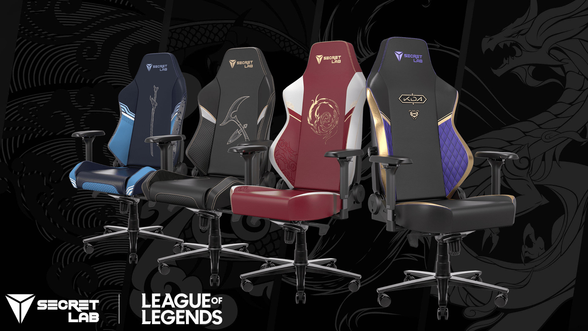 Secret Lab x League of Legends gaming chairs