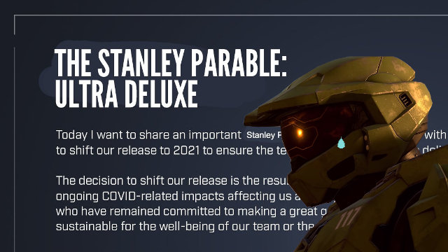 The Stanley Parable: Ultra Deluxe release date delay Master Chief tear