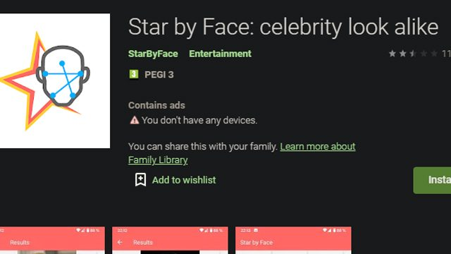 What is the Celebrity Lookalike App