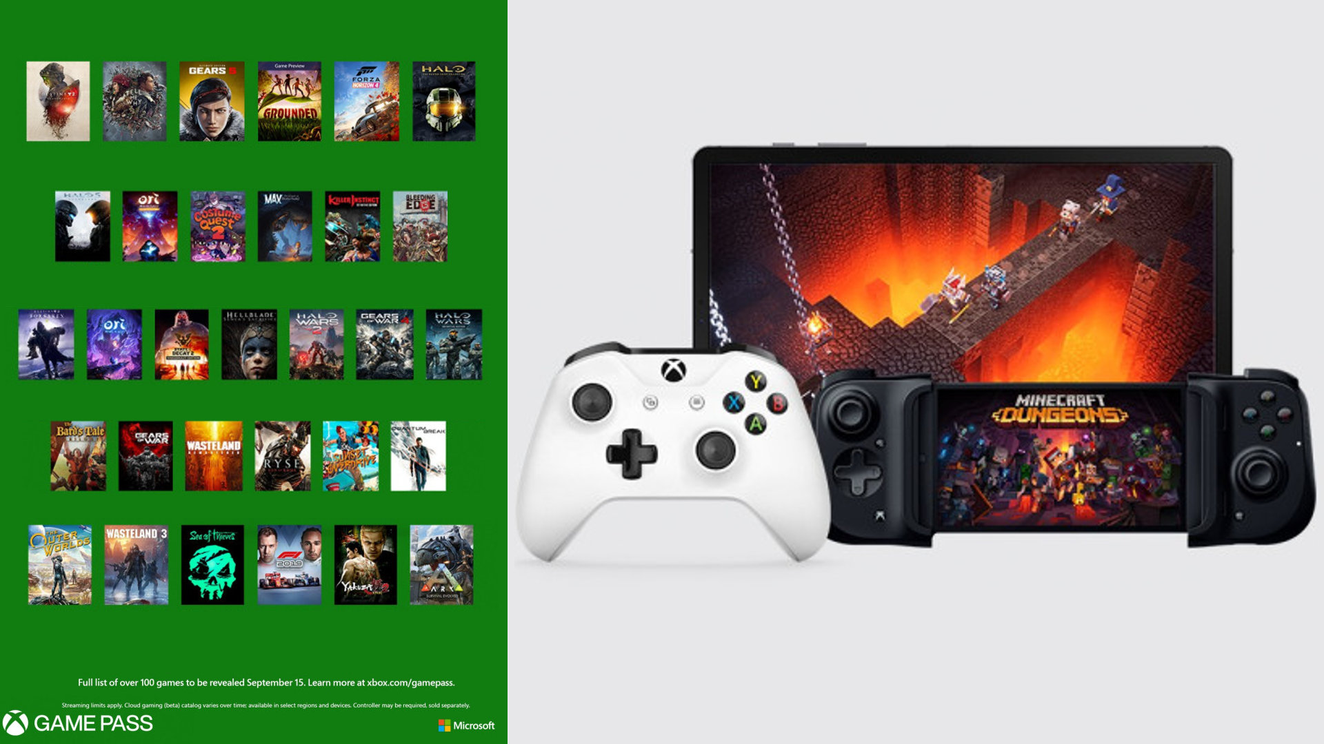 Xbox Game Pass Android announcement splash