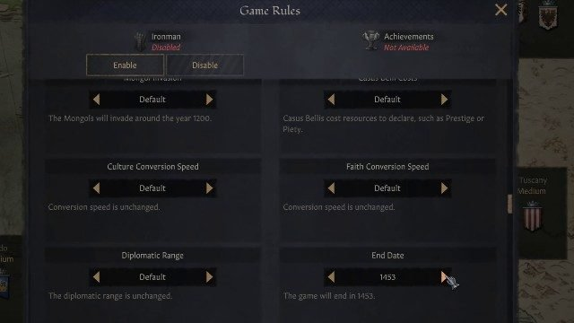 Crusader Kings 3 End Date Year Game Rules