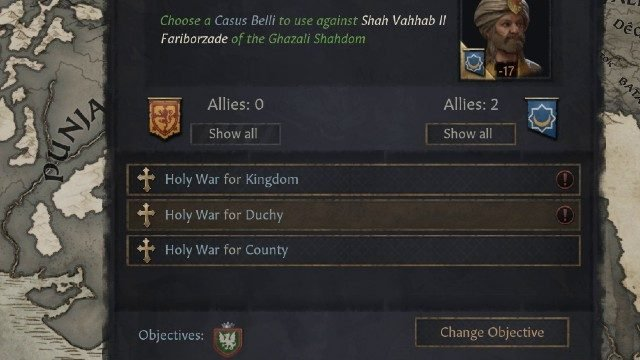 Crusader Kings 3 Holy War Options