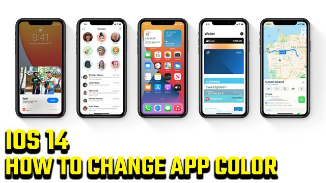 How to change app color on iOS 14