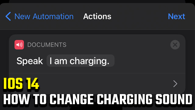 How to change charging sound in iOS 14