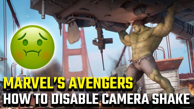 How to disable Camera Shake in Marvel's Avengers