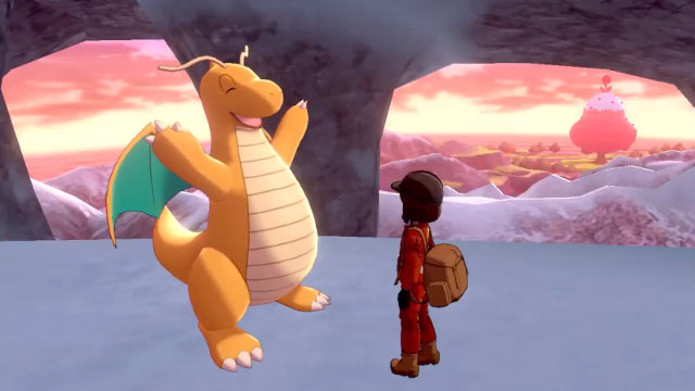 Pokemon Sword and Shield Crown Tundra Expansion Pass Dragonite
