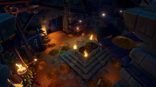 Sea of Thieves September update Vaults of the Ancients gold and torches