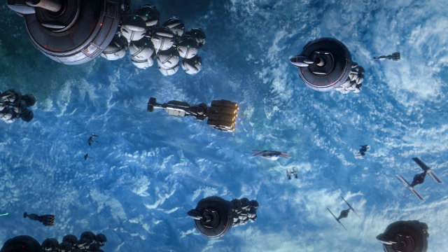 Star Wars: Squadrons operations space battle