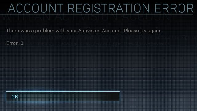 How to fix Activision account registration error 0