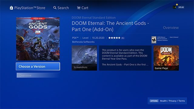 How to fix Doom Eternal: The Ancient Gods DLC not appearing