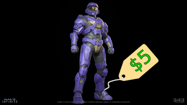 Halo Infinite Armor Coating microtransactions price Monarch Purple tag