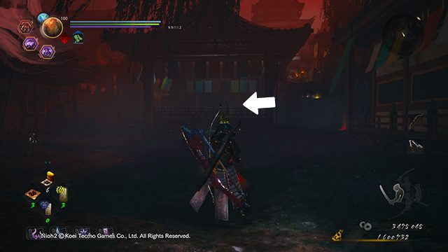 Nioh 2 Darkness in the Capital fire altar locations