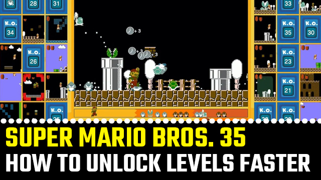 SUPER MARIO bros 35 how to unlock levels faster