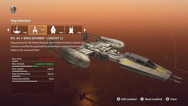 Star Wars Squadrons Bomber Loadouts Y-wing