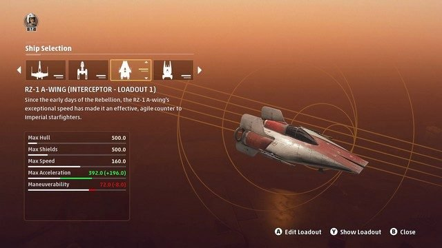 Star Wars Squadrons Interceptor Loadouts A-wing
