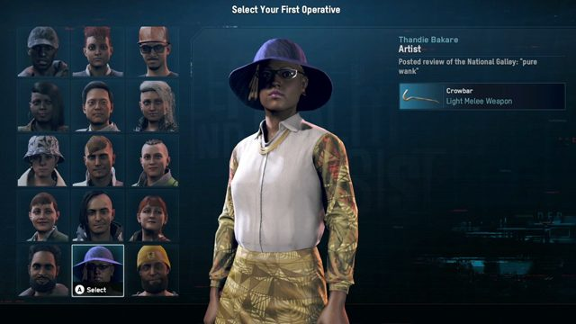 Watch Dogs: Legion what is the best first Operative?
