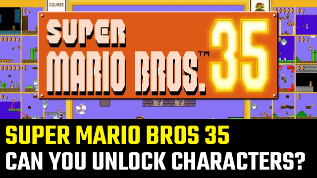 can you unlock more characters in super mario 35
