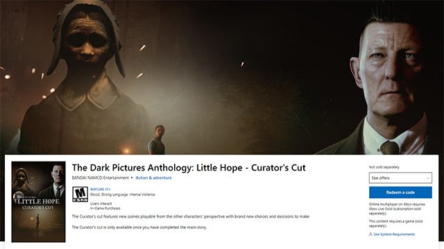 How to access the Little Hope Curator's Cut