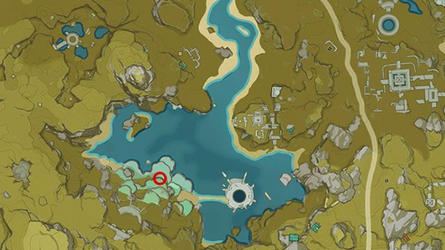 Genshin Impact Strange Rock location map
