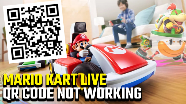 mario kart live qr code not working