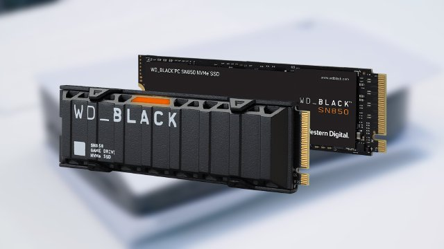 new WD Black SN850 SSD AN 1500 PS5