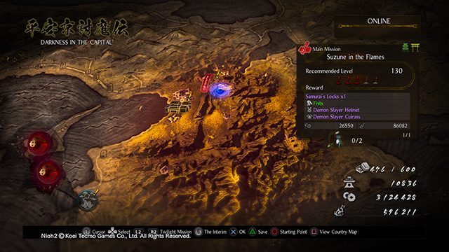 How to start the Nioh 2 Darkness in the Capital DLC