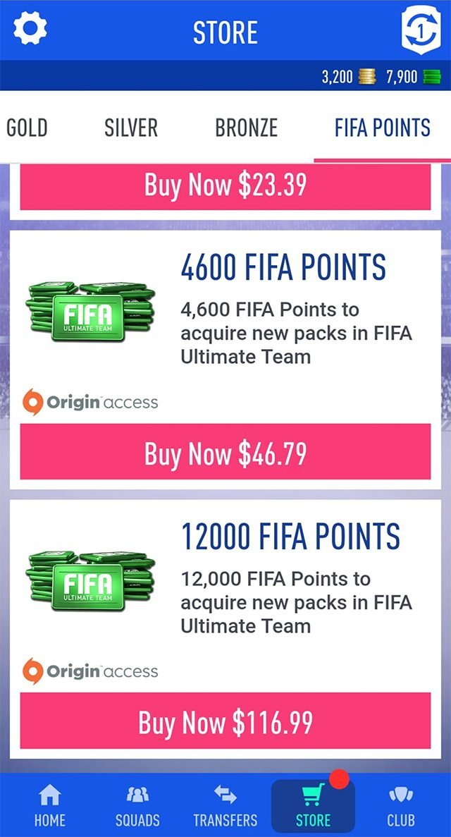 How to buy FIFA points on the web app for FIFA 21