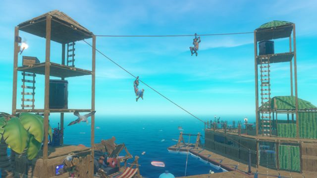 How to craft a zipline in Raft - parts and requirements