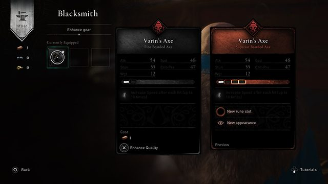 How to upgrade weapons in Assassin's Creed Valhalla