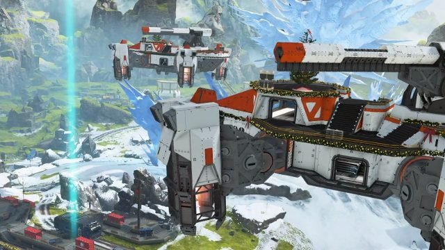 Apex Legends Winter Express LTE Holo-Day Base Event supply ship