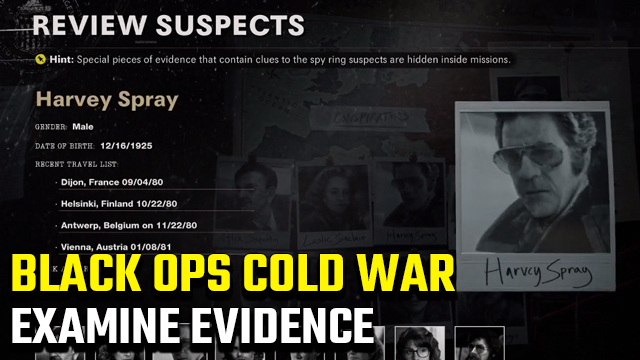 Black Ops Cold War Operation Red Circus Examine Evidence