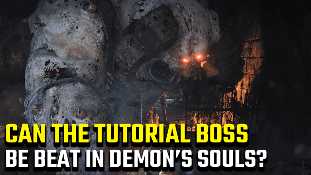 Demon's Souls can you beat the tutorial boss